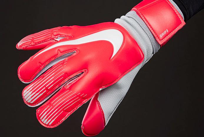 Вратарские перчатки Nike GK Grip 3 Pure Platinum Red GS0360-671 ... 28d432faa05